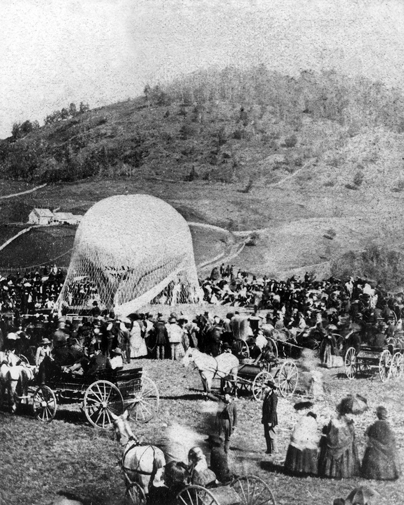 Balloon Ascension At The Danbury State Fair