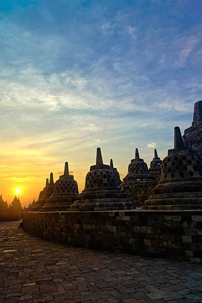 Borobudur Sunrise Photography Art | DE LA Gallery