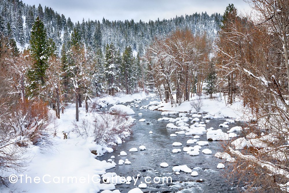 Spring Snow Truckee River Art | The Carmel Gallery