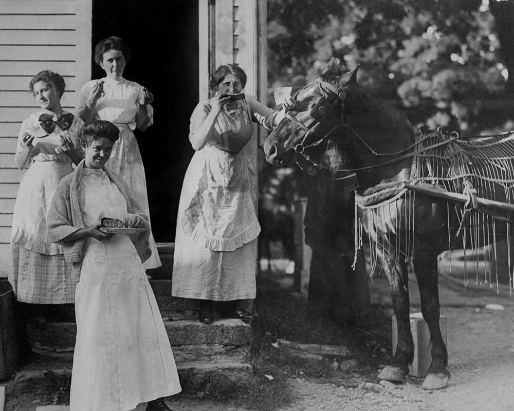 Local Ladies At The Burr Barn Raising