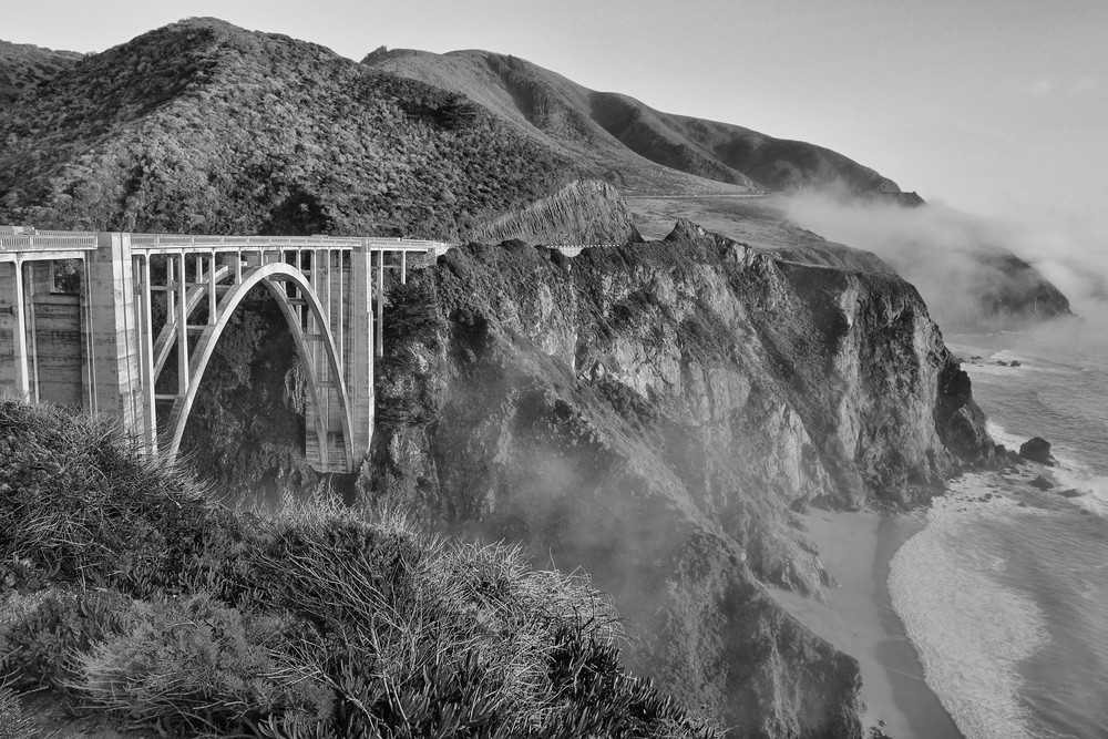 Bixby bridge B&W