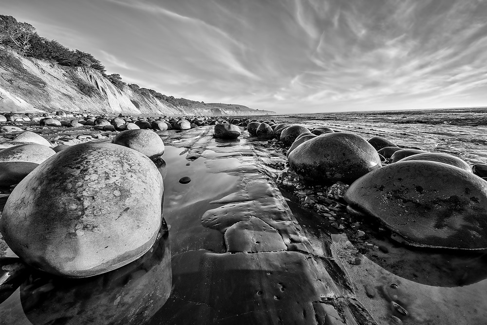 Bowling Ball Beach 4 B&W