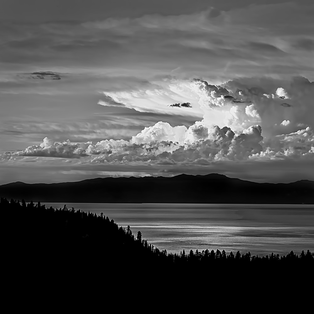 Thunderhead over Tahoe B&W
