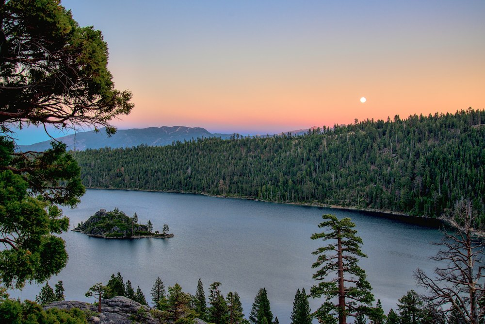 Emerald Bay Super Moon Sunset