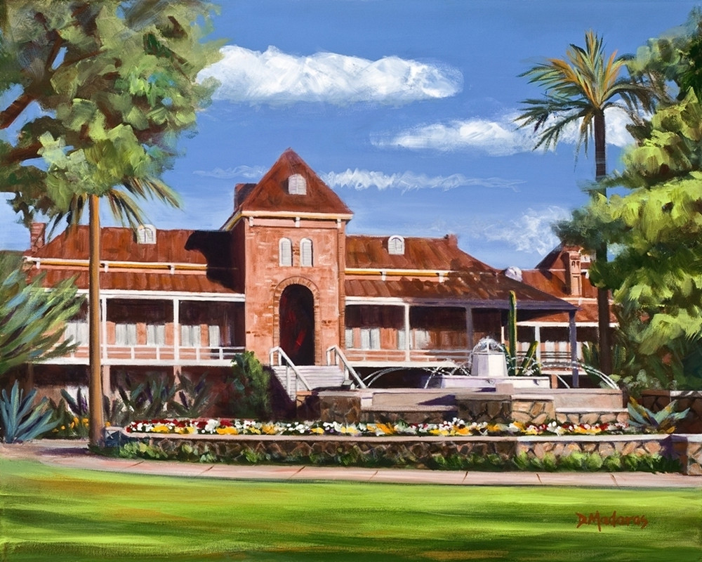 Fountain at Old Main | Southwest Art Gallery Tucson