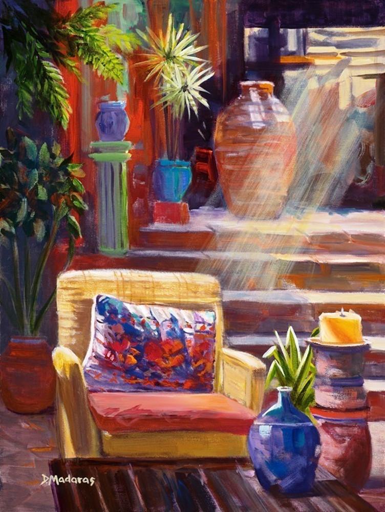 Patio at Hotel California | Southwest Art Gallery Tucson