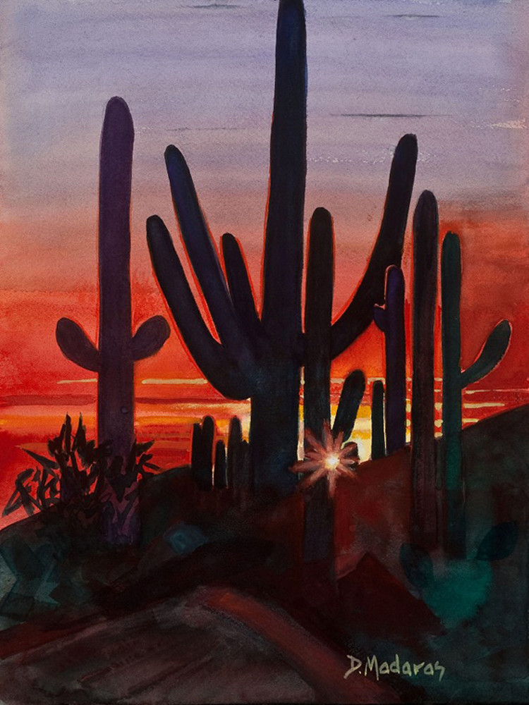 Sunset at Dove Mountain | Southwest Art Gallery Tucson