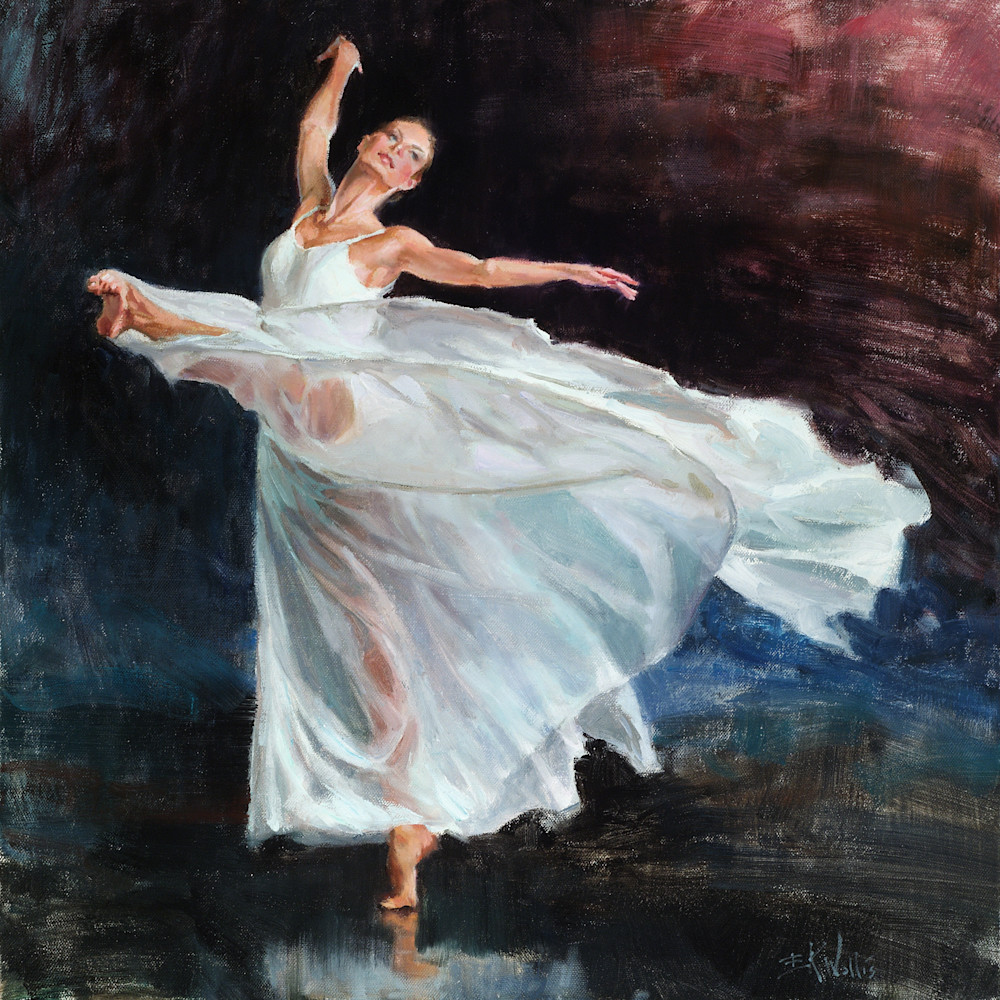 Dancer painting Eric Wallis