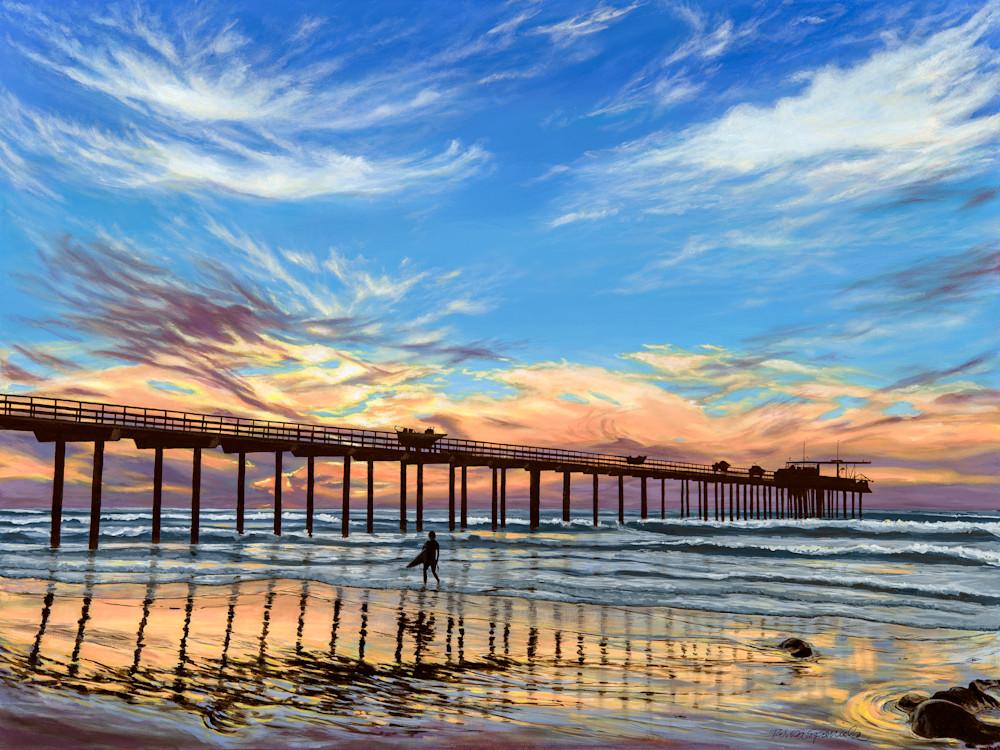 Sunset Surfing at Scripps Pier