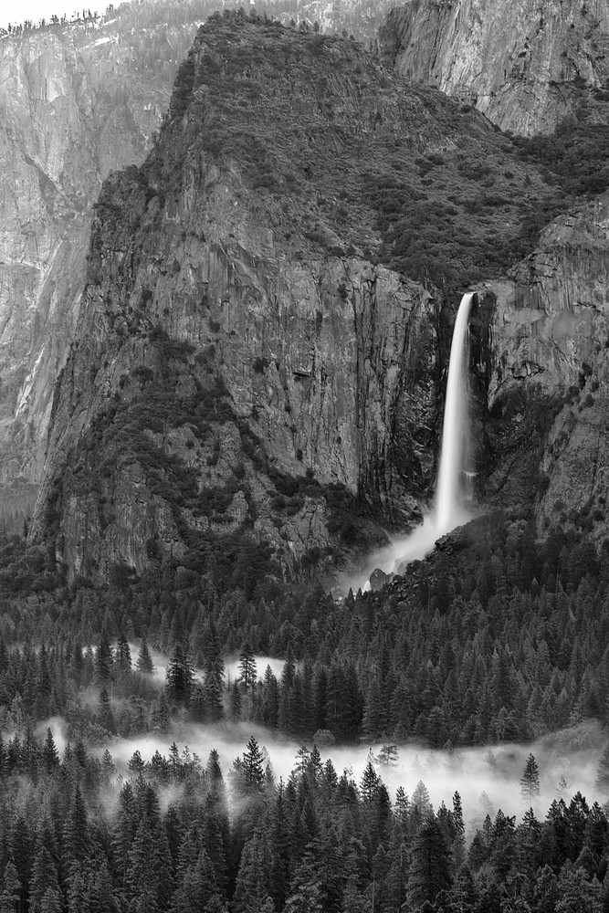 Bridalveil Splendor (Black and white)