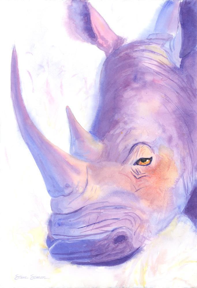 Rhino Watercolor
