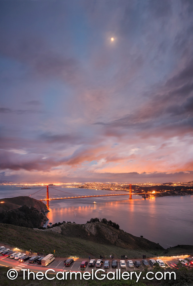 Moon Over Marin And Golden Gate Art | The Carmel Gallery