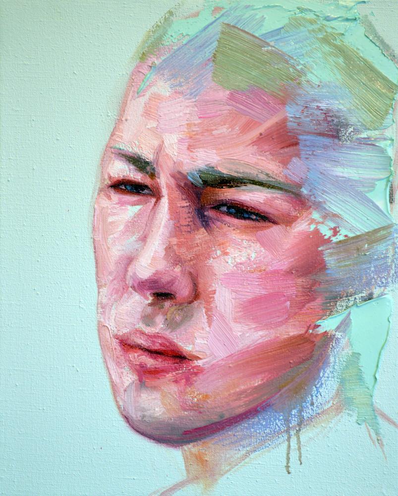 Head III (turquoise background)