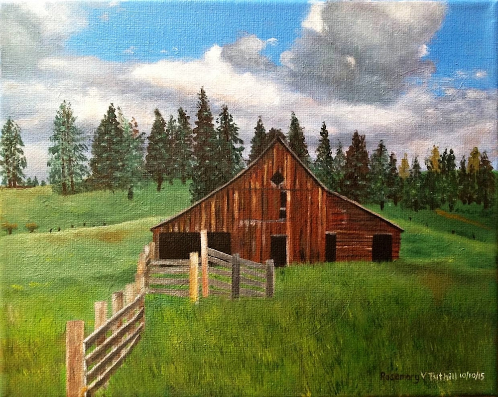 Brown Barn Landscape Art | Vasquez Art