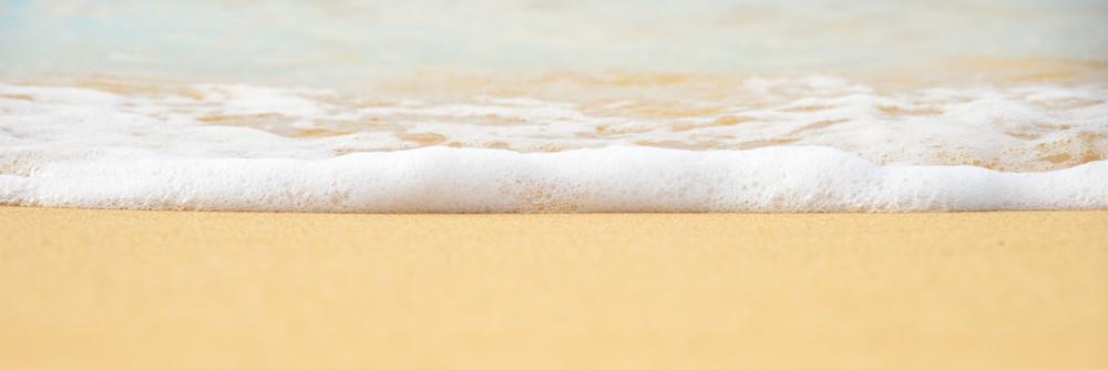 Foamy Sea Shore Ocean Print