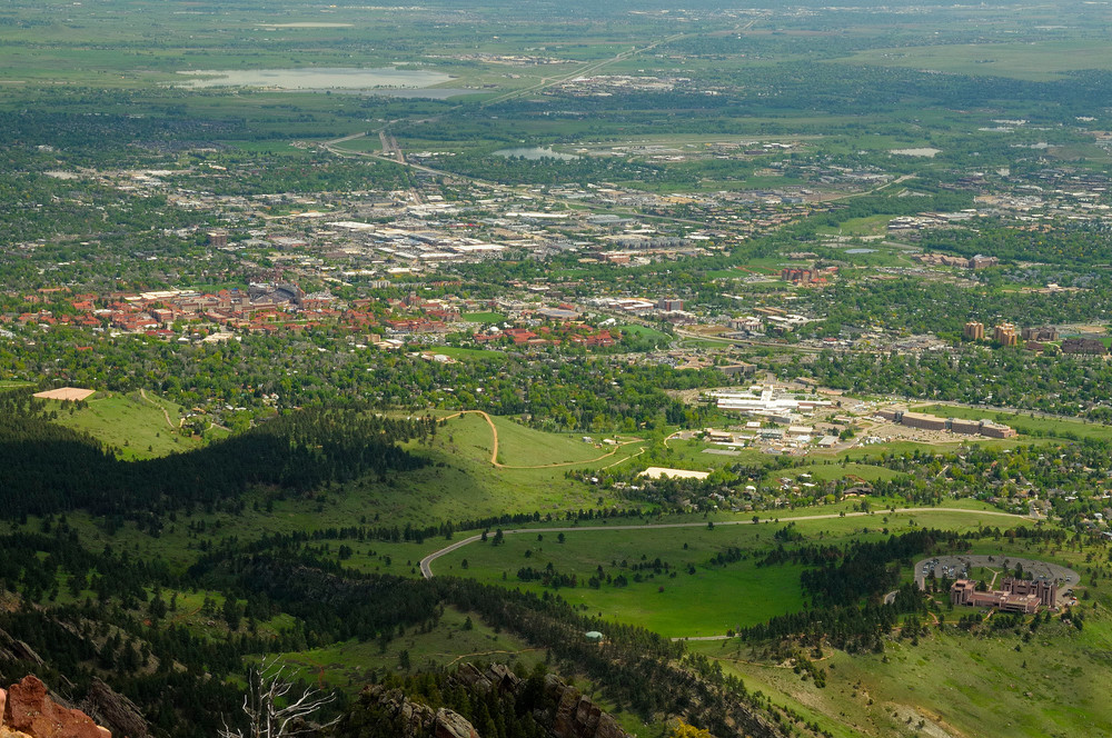 Boulder View from Bear Peak