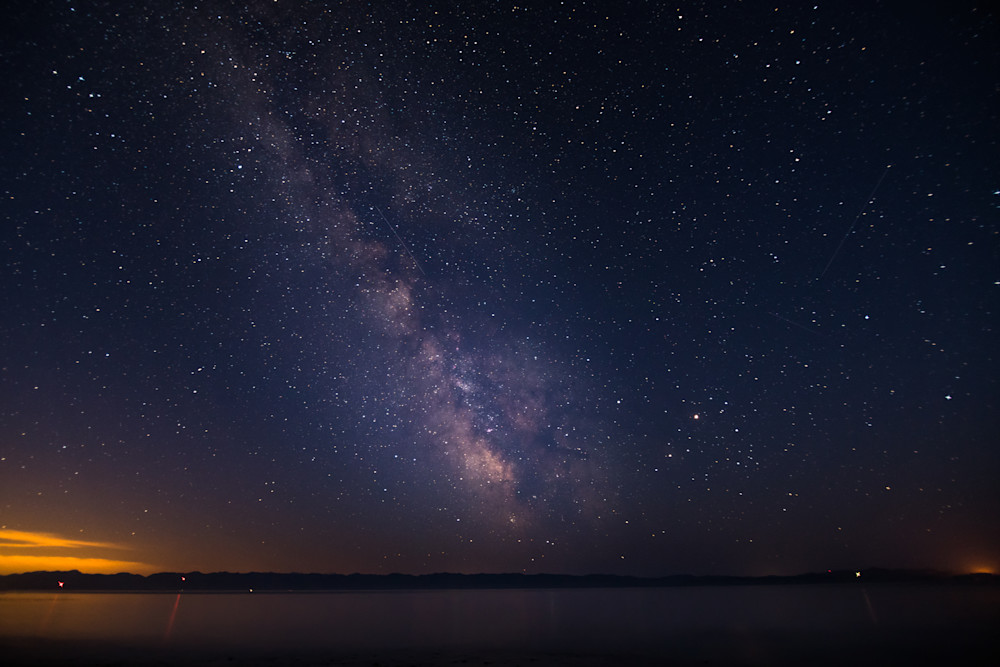 Milky Way over Salish Sea Photograph for Sale as Fine Art.