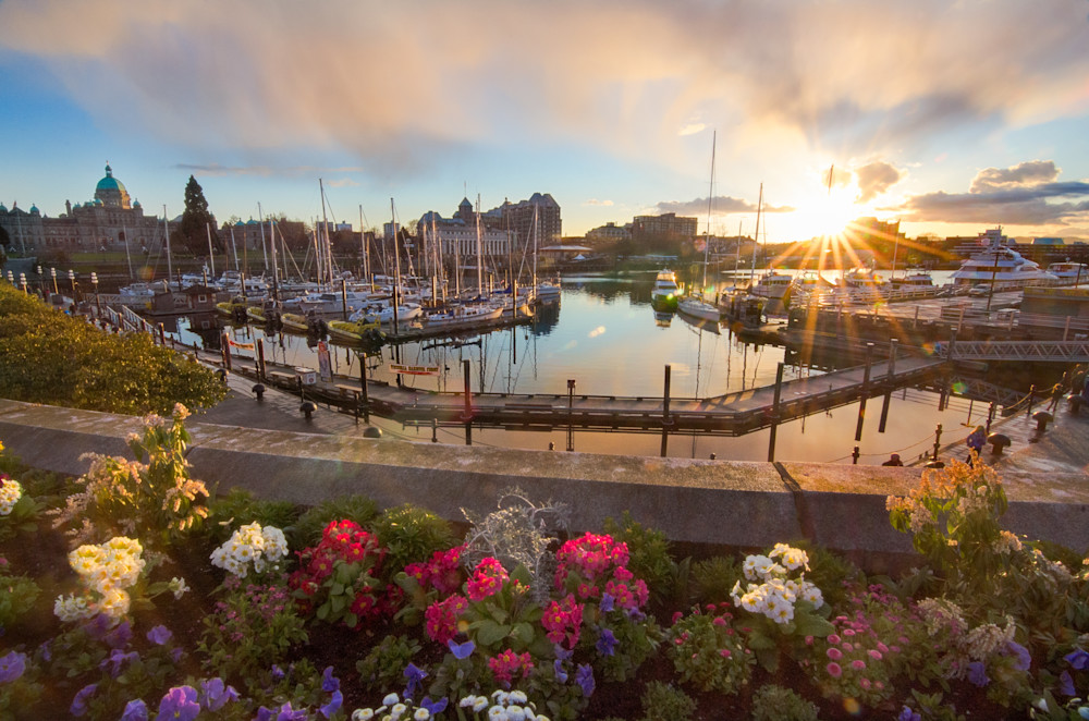 Victoria Inner Harbour Sunset Photograph for Sale as Fine Art.