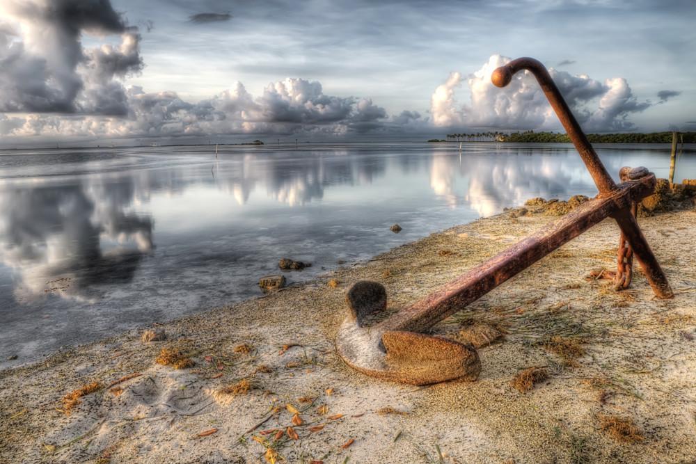 Photograph of anchor along Florida Keys shoreline