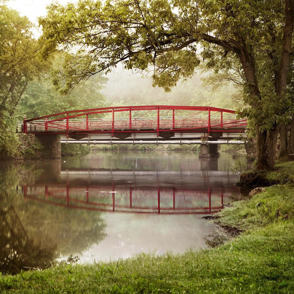 Historic Red Bridge - Summer - Meriden CT