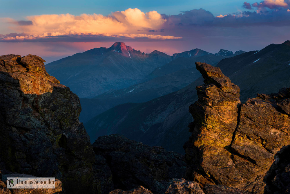 Sensational sunset from the Rock Cut off Trail Ridge Road