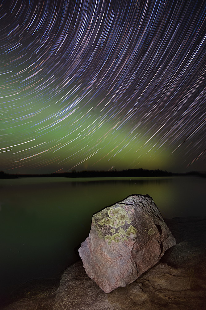 Point Rock Star Trails Photograph for Sale as Fine Art.