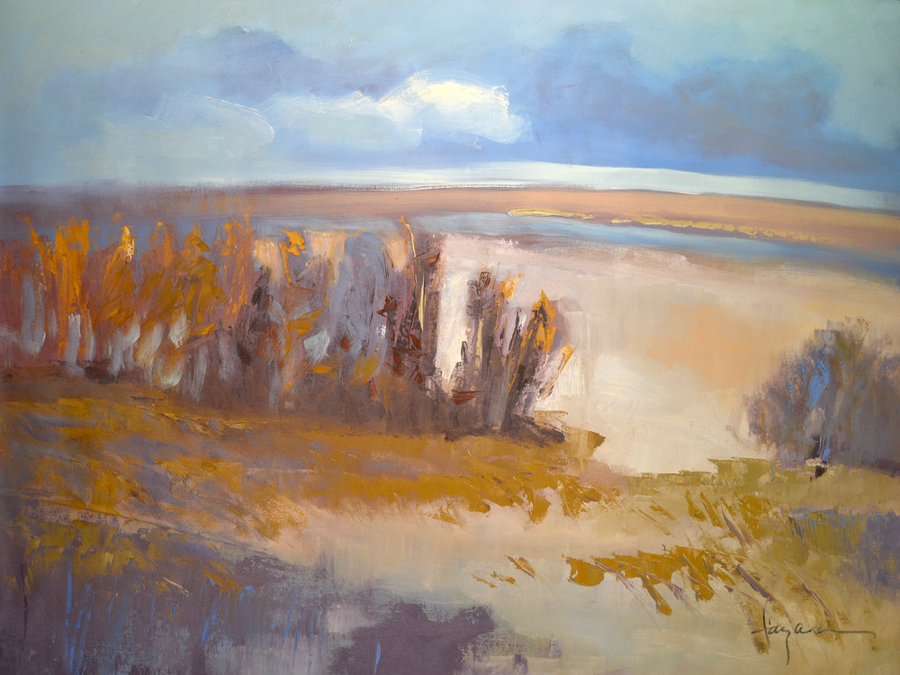 Winter Marsh | Abstract Landscape Painting by Dorothy Fagan