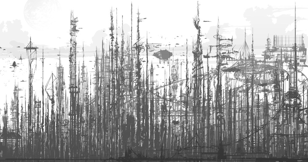 Skyline: Fine Art Print by Hondo Branson.
