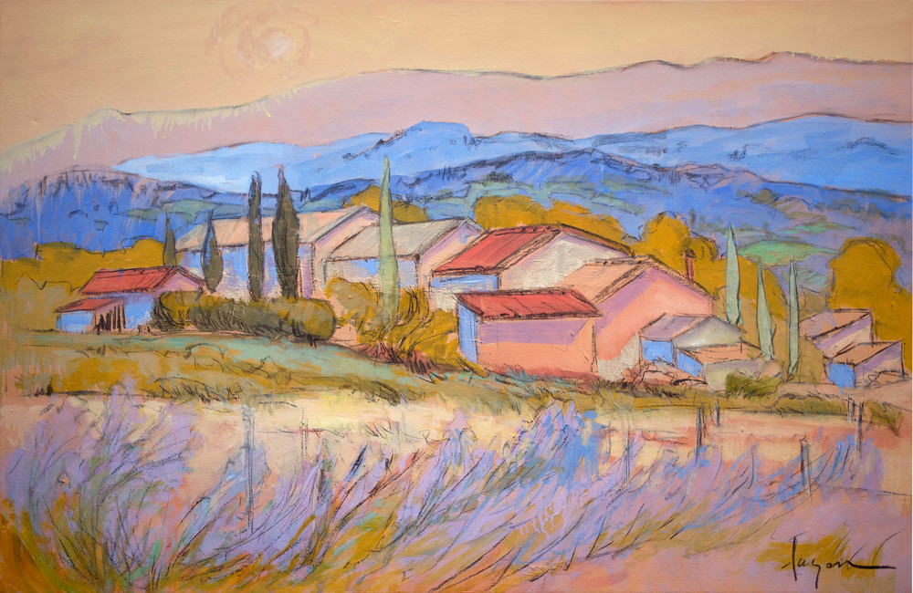 Provence Oasis | Watercolor by Dorothy Fagan