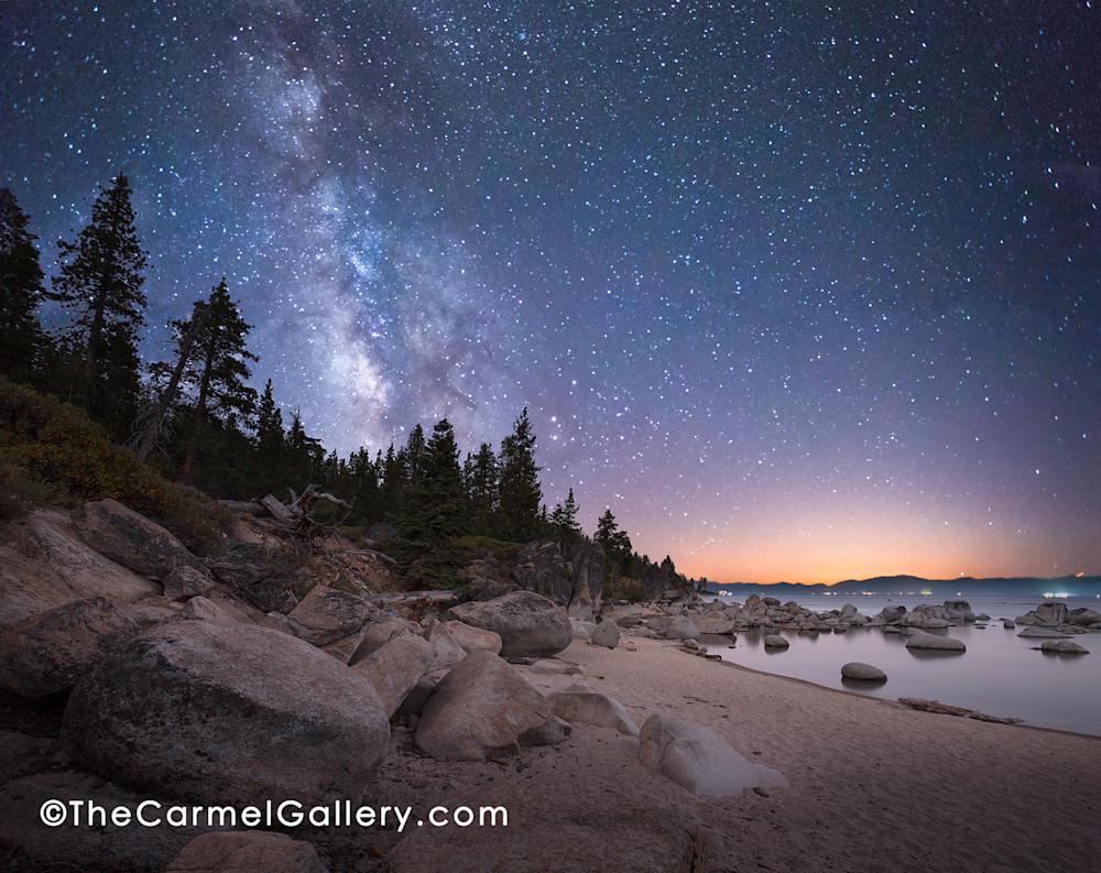 Milky Way Lake Tahoe art print