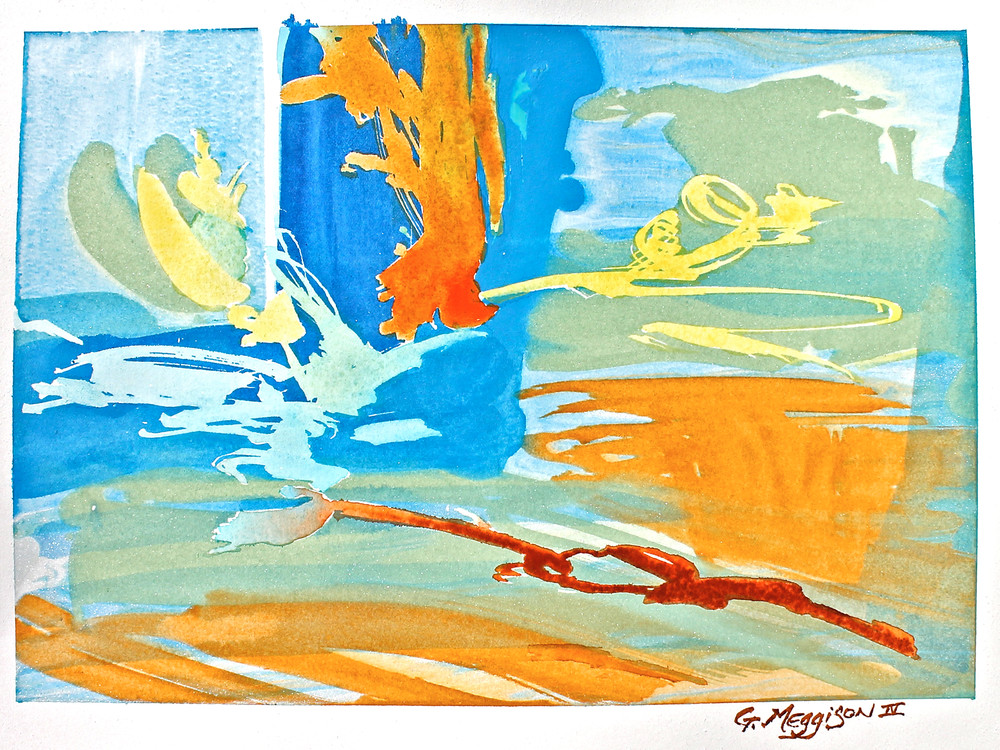 Chemical Connection | Abstract Watercolors | Gordon Meggison IV