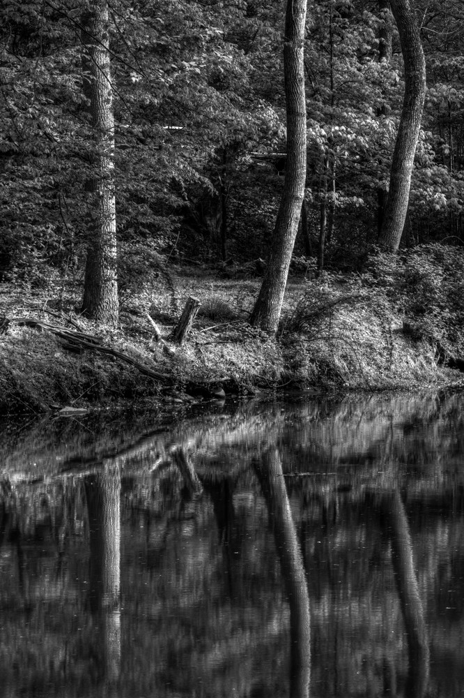 Great Falls Reflection Black and White Fine Art Photographs by Michael Pucciarelli