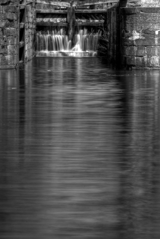 Waterfalls of Great Falls Fine Art Black and White Photograph by Michael Pucciarelli