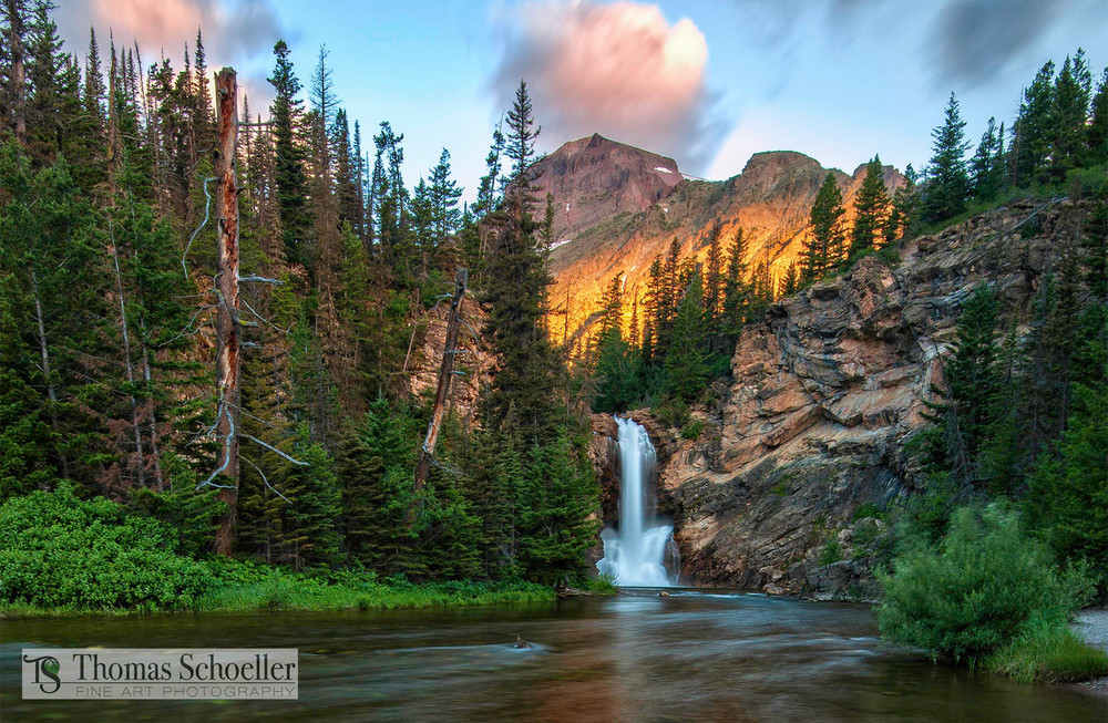 Scenic Montana landscape fine art prints/Running Eagle falls/Two Medicine Glacier National Park