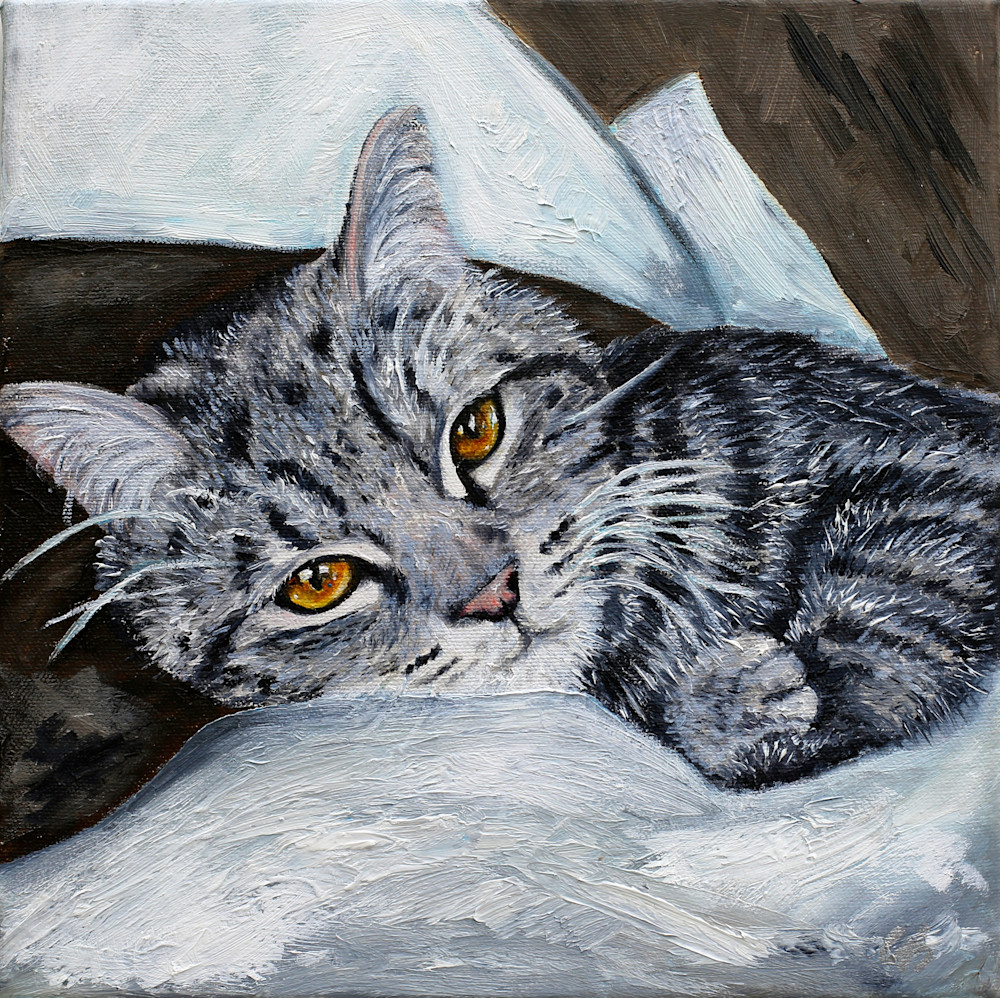 Foreverhome, an SPCA Kitten Painting - Artistic View