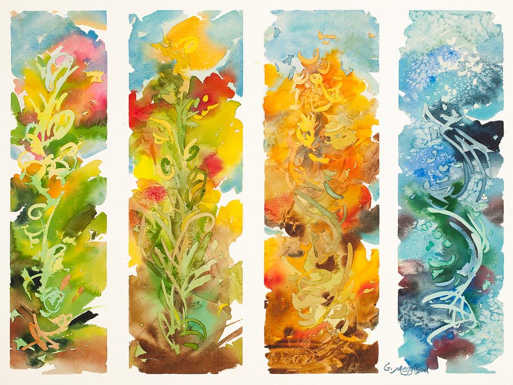 4 Seasons | Abstract Watercolors | Gordon Meggison IV