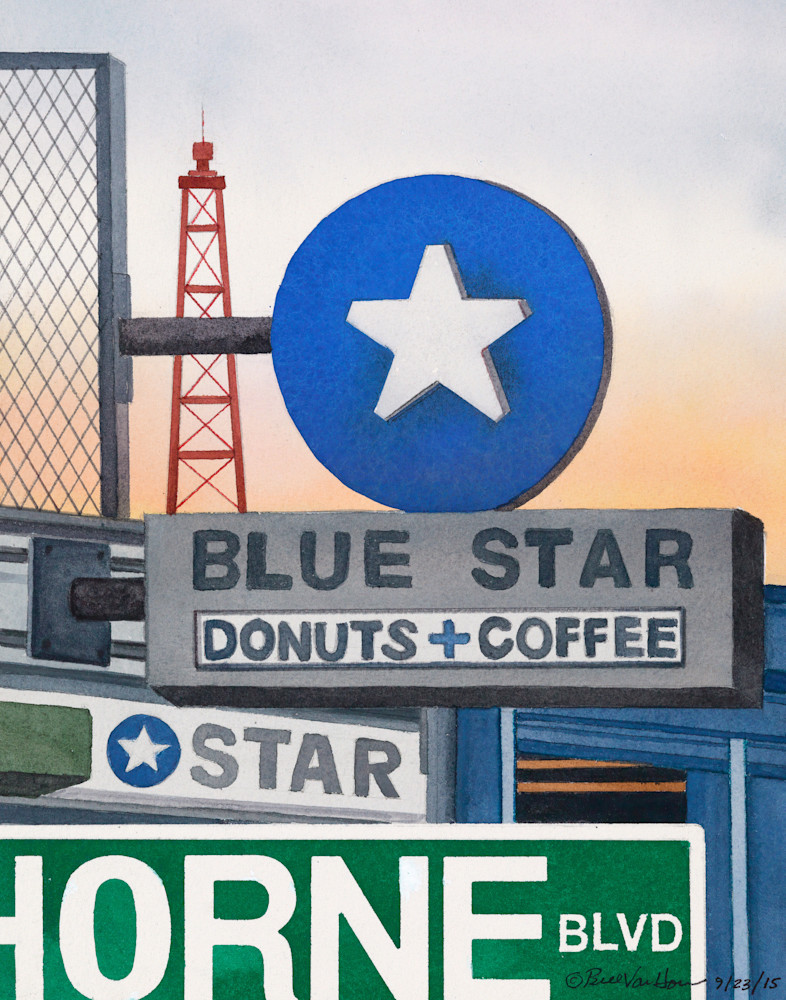 Signs of Portland - Blue Star Donuts