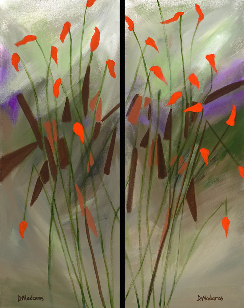 Ocotillo Diptych | Southwest Art Gallery Tucson | Madaras