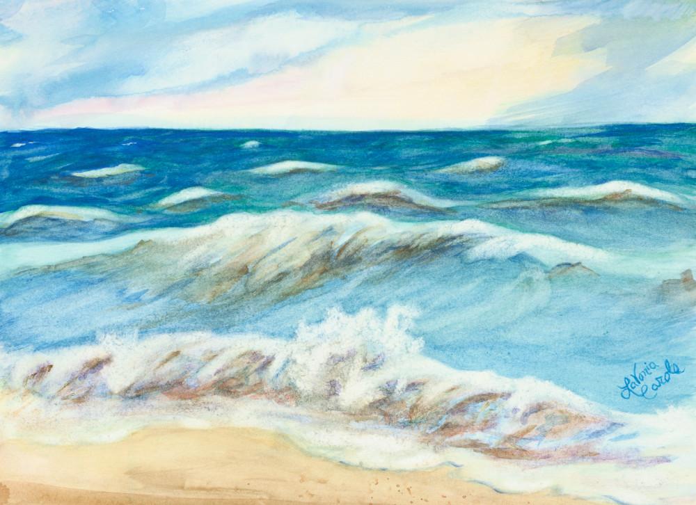 Beach Art Plein-Air Painting-Fine Art Print