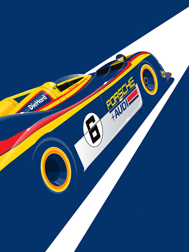 Porsche 917, by Ricardo Santos, Limited Edition Print