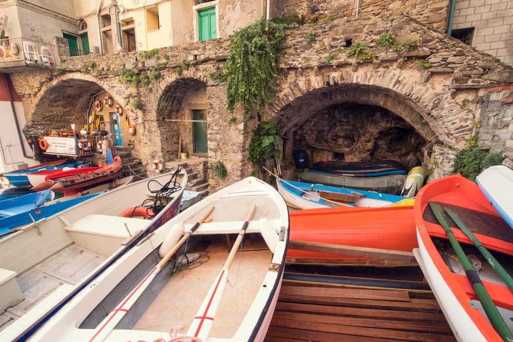 Il Porto Barca, Riomaggiore, Cinque Terre, Italy Art