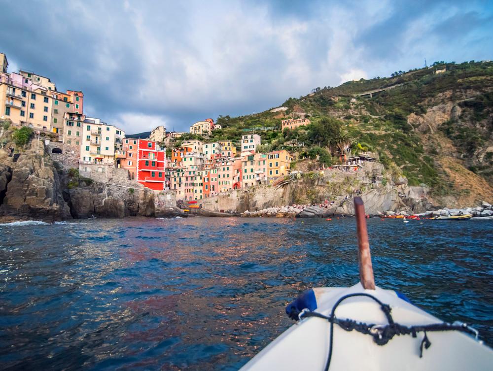 Riomaggiore Boat Day art print