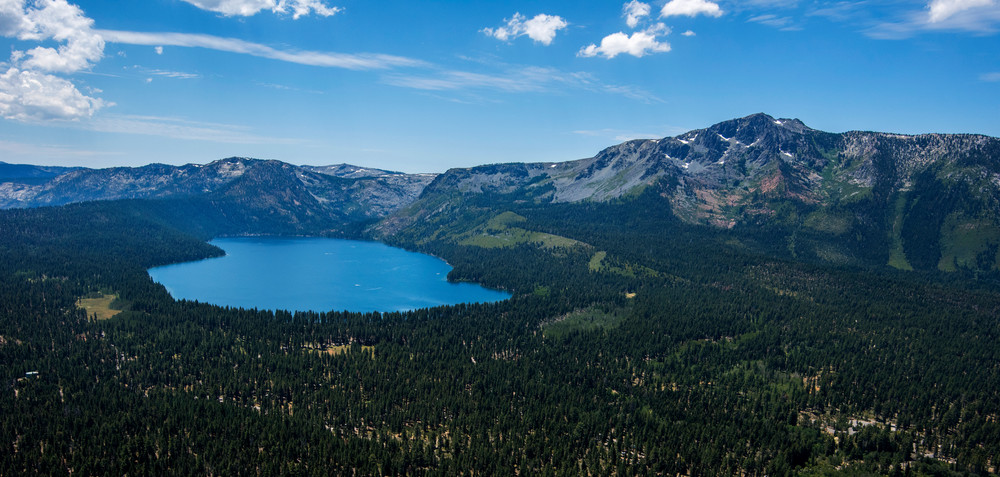 Fallen Leaf Lake and Mount Tallac aerial photo by Brad Scott