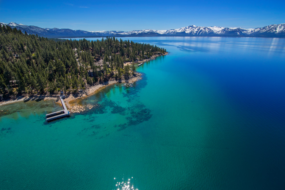 Zephyr Point Lake Tahoe Aerial Photo Print