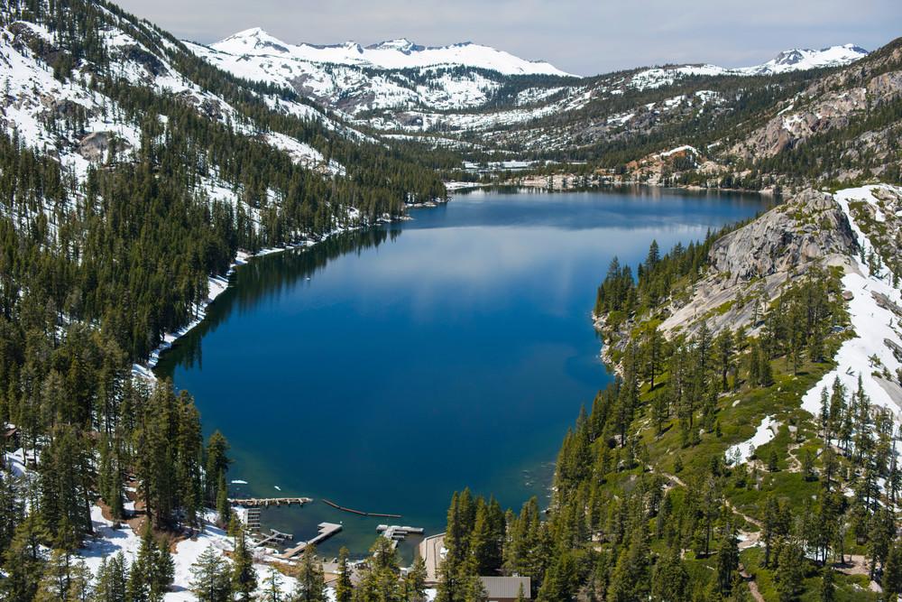 Echo Lake Aerial Photography Print