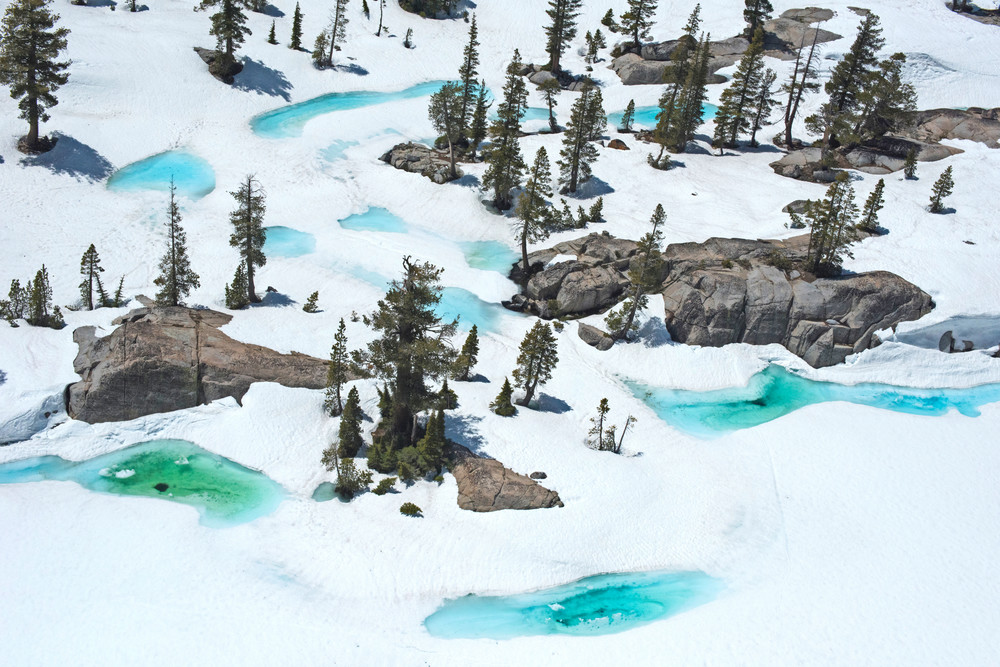 Desolation Wilderness Blue Ice Aerial Photography Print