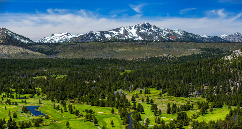 Lake Tahoe Golf Course Aerial Photo