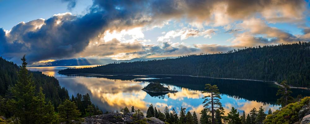 Emerald Bay Rays Lake Tahoe Print
