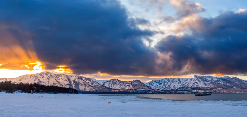 Winter Rays, Lake Tahoe print by Brad Scott