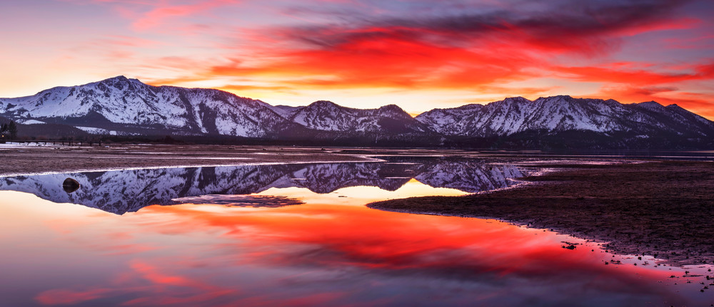 Tallac aglow Lake Tahoe print by Brad Scott